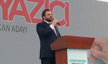 Cumhur ittifakı AK Parti Marmaris Belediye Başkan adayı Serkan Yazıcı Atatürk meydanında düzenlediği mitingde Marmaris'li seçmenlerle buluştu
