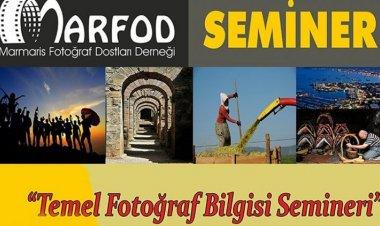 MARFOD - 2020 Temel Fotoğraf Bilgisi Seminerleri Başlıyor