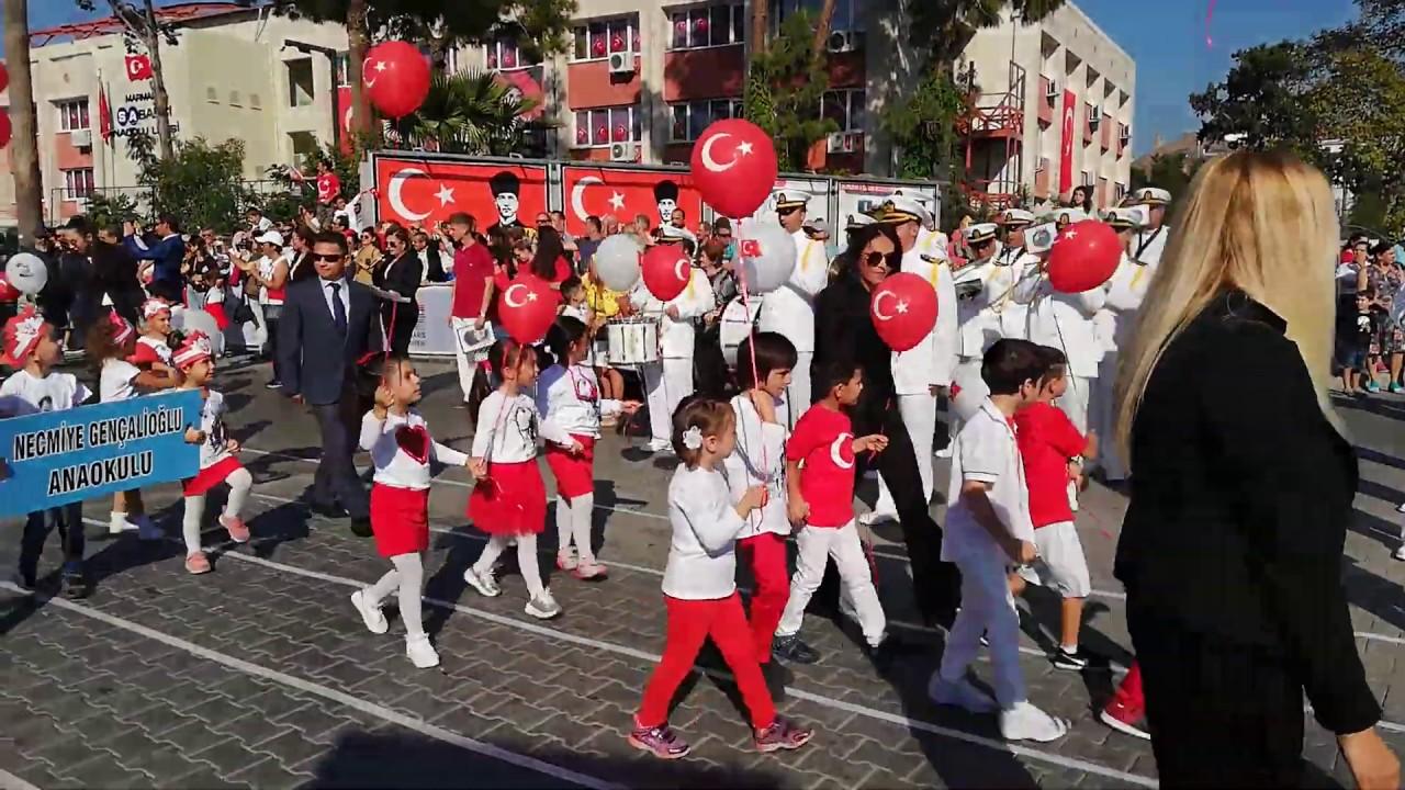 Marmaris 29 Ekim 2019 Cumhuriyet Bayramı Resmi Geçit Töreni
